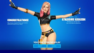 ATHLEISURE ASSASSIN 🎀 KAWAII STYLE - Freewheelin Emote | FORTNITE