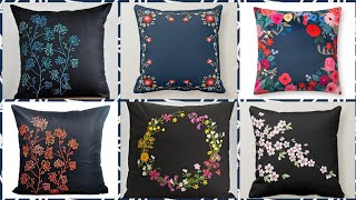 Throw Pillow And Cushions Accent Hand Embroidery Flowers Cushion Covers Designs Ideas