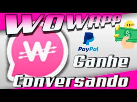 Wowapp Como Ganhar Dinheiro no Paypal Conversando com Amigos