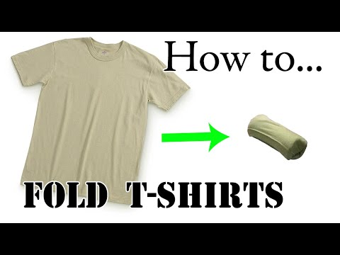 Army Packing Hack: How to Ranger Roll a T-Shirt for Vacation - Efficient, Compact, Space-Saving