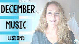 Elementary Music December Music Lesson Bundle of Songs and Activities