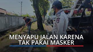 Pengendara di Padang Disuruh Nyapu Jalanan karena Tak Pakai Masker, Sanksi Perlu Agar Warga Sadar