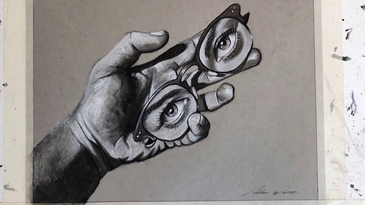 surreal time lapse drawing by callum warren