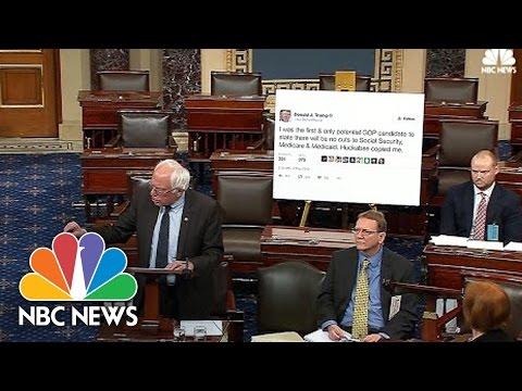 Senator Bernie Sanders Takes Donald Trump Tweet To Senate Floor   NBC News