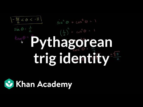 using the pythagorean trig identity video khan academy
