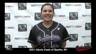 2021 Alycia Coats Power Hitting Catcher and Third Base Softball Skills Video