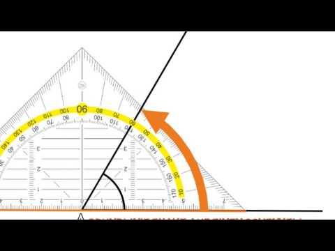 Winkel messen - wir messen Winkel mit dem Geodreieck