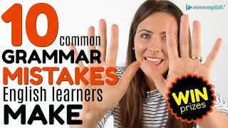 10 MOST COMMON Grammar Mistakes English Learners Make 😭😭😭