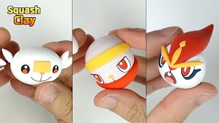 Raboot  - (Pokémon) - Pokémon Sword & Shield Clay art: Scorbunny line!! Fire type Pokémon(Satisfying video)