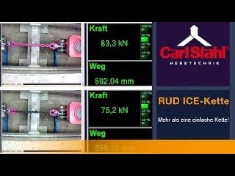 Zugversuch - RUD ICE-Kette Güteklasse 12 | Carl Stahl Hebetechnik