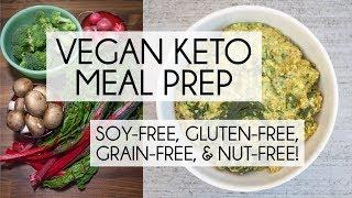 Vegan Keto Meal Prep | Soy-Free, Nut-Free, Gluten-Free, And Grain-Free!