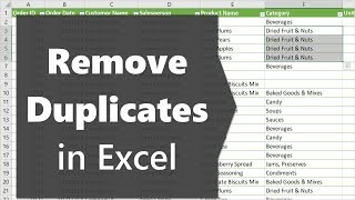 2 Ways to Remove Duplicates to Create List of Unique Values in Excel