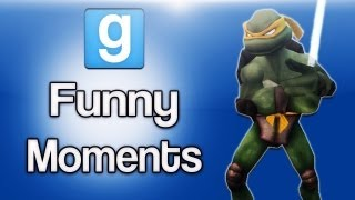 Gmod Funny Moments Ep. 8 (Jedi Ninja Turtle, Dragons, Sandbox Fun)