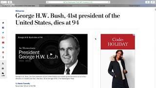 BREAKING: GEORGE H. W. BUSH DIES AT 94