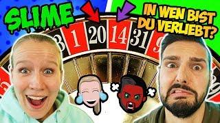 KOMM NICHT AUF DAS FALSCHE FELD Schleim Roulette Challenge mit unangenehmen Aufgaben! Kaan vs. Kathi