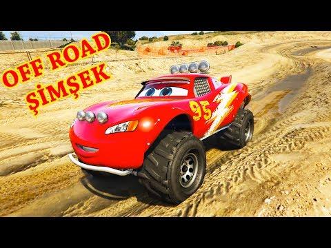 Offroad Şimşek McQueen Geliyor - Jackson Storm Sheriff Mater (GTA 5 Hikaye Modu)