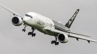 AIRBUS A350 AIRSHOW With Stunning SHARP TURNS   ILA 2018 (4K)