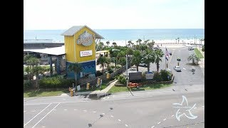 Aerial video of the Hangout Music Festival Setup