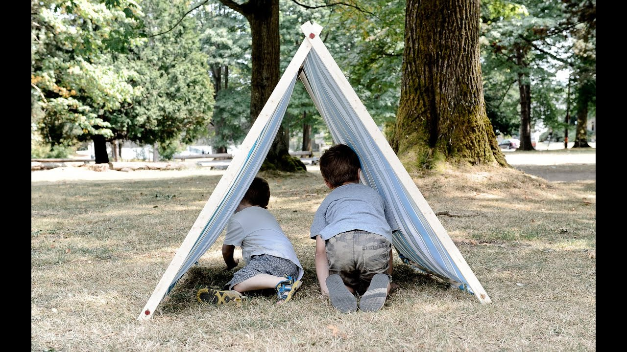 DIY A Frame Tent: How To Make A Kids A Frame Tent | Dunn DIY