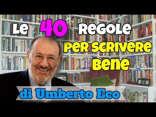Video Pronunciation of Umberto eco in Italian
