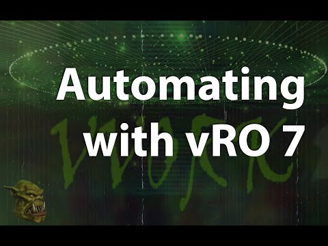 Automating with vRO 7 - Part 01 - Introduction - YouTube