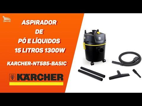 Aspirador de Pó e Líquidos 15 Litros 1300W  - Video