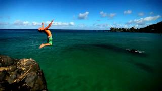 Waimea cliff jump