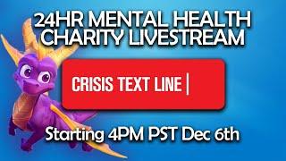 24 Hour Mental Health Charity Livestream! — Crisis Textline PART ONE