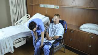 Transferring Patient from Chair to Bed with Opti-Pose Sling and Ceiling Lift