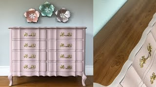 French Provincial Dresser Makeover With Chalk Paint