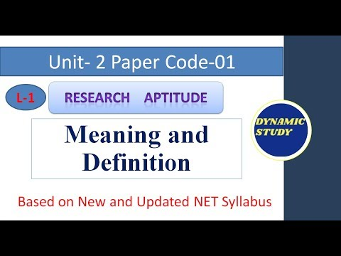 Research- Meaning, Definition, Features, and Objectives Lesson-1