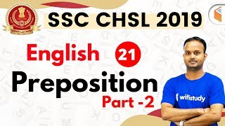 7:30 PM - SSC CHSL 2019 | English by Sanjeev Sir | Preposition (Part-2)