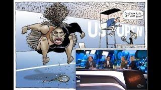 The Serena Williams Cartoon - How A Far Left Australian TV Show Reported It (2018)