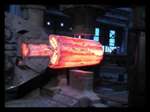Watch Giant Machines Forge A Gigantic Steel Roll