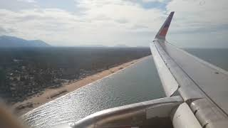 preview picture of video 'Thai smile airways WE291 BKK-NAW Landing Narathiwat airport'