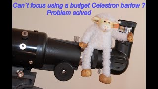 Celestron powerseeker 3x barlow. Unable to focus - solved