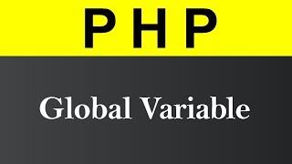 Global Variable in PHP (Hindi)