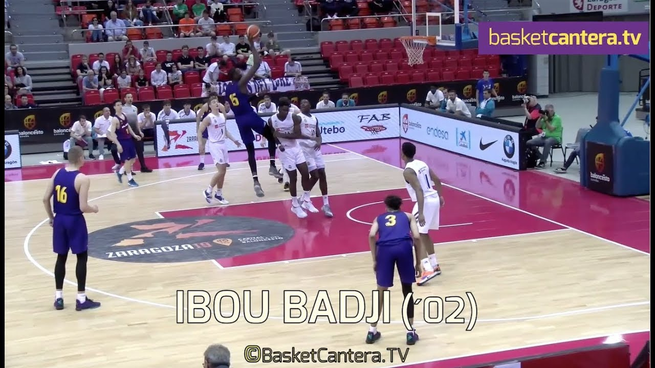 IBOU D. BADJI (´02) FC Barcelona 2,16 m. (2,40 envergadura) Tem. 2018/19 (BasketCantera.TV)