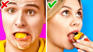 CHOCOLATE VS REAL FOOD FOR 24 HOURS! || Funny Food Challenges And Pranks by 123 Go! Live