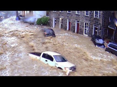 Wateroverlast in België en Zuid Nederland