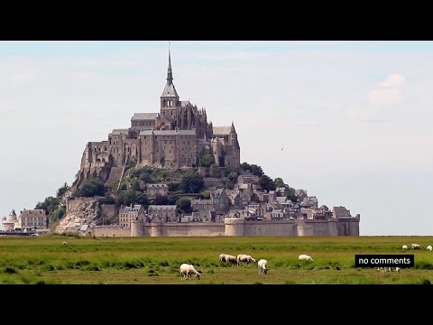 Mont Saint-Michel, Bretagne, France. Мон