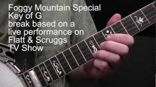 Up The Neck Scruggs Licks + Foggy Mountain Special (Tom Adams banjo)