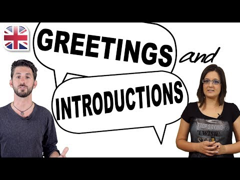 English Greetings and Introductions - Spoken English