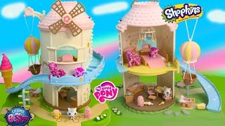 Calico Critters MLP Pinkie Pie Shopkins LPS Baby Playhouse Playset Toy Unboxing Video My Little Pony