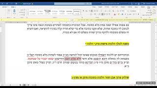 """חשיבות הכתובה ע""""פ הרמב""""ם היומי הלכות אישות פרק י הלכה י"""