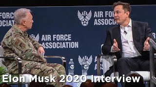 RAW Elon Musk Interview from Air Warfare Symposium 2020