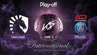 [RU] Team Liquid vs PSG.LGD game 3 The International 9. FINAL