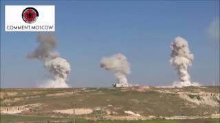 Смотреть онлайн Бомба на парашюте летит на землю в Сирии