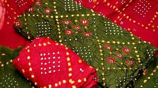 mqdefault - Jaipuri suits best designs   Latest Bandhej Suits Collection   Cotton Bandhani Dress Materials 2019