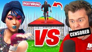 The AciDicBliTzz vs Muselk Deathrun... *500 Deaths* (Fortnite Creative)